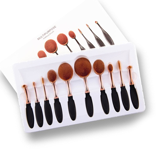 Bộ cọ Multipurpose Make up Brush Oval 10 cây