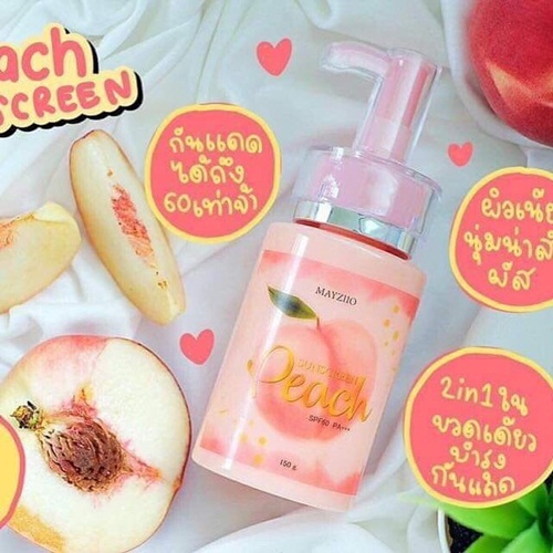 Lotion Chống Nắng Mayziio Peach Sunsrceen SPF 60
